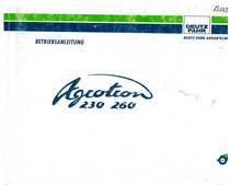 Agrotron 230-260 - Betriebsanleitung