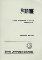"SAME CONTROL SYSTEM "" SAMETROL"" - Manuale tecnico"