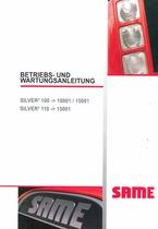 SILVER³ 100-110 - Betriebs und Wartungsanleitung