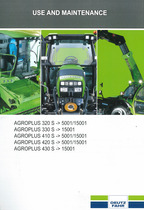 AGROPLUS 320 S -> 5001/15001 - AGROPLUS 330 S -> 15001 - AGROPLUS 410 S -> 5001/15001 - AGROPLUS 420 S -> 5001/15001 - AGROPLUS 430 S -> 15001 - Use and maintenance