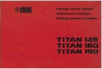 TITAN 145-160-190 - Catalogo Parti di Ricambio / Spare parts catalogue / Catálogo peças originais