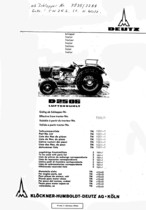 D 2506 - Ersatzteilliste / Spare parts catalogue / Catalogue de pièces de rechange / Lista de repuestos