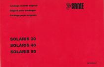 SOLARIS 30-40-50 - Catalogo ricambi originali / Original parts catalogue / Catálogo peças originais