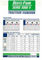DEUTZ-FAHR SERIE 3000 V Tracteur Vigneron
