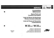 M 33.30-M 33.60 - Ersatzteilliste / Liste de Pièces de Rechange / Spare Parts List / Elenco dei Pezzi di Ricambio / Lista de Piezas de Recambio