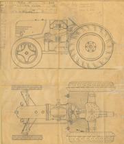 Trattorino 4R/20 - Vista d'assieme - Disegno n. 3024