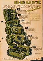 Catalogo pubblicitario relativo ai trattori Deutz dagli 11 ai 60 cavalli di potenza