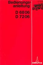 D 68 06 - D 72 06 - Bedienungsanleitung