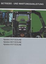 AGROPLUS 310 F ECOLINE - AGROPLUS 320 F ECOLINE - AGROPLUS 410 F ECOLINE - Betriebs - und Wartungsanleitung