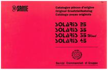 SOLARIS 25-35-35 WIND-45 - Catalogue pièces d'origine / Original Ersatzteilkatalog / Catálogo peças originais