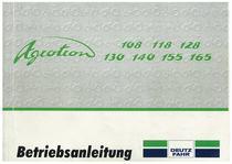 AGROTRON 108 - 118 - 128 - 130 - 140 - 155 - 165 - Betriebsanleitung