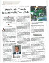 Prodotte in Croazia le mietitrebbie Deutz-Fahr
