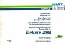 TOPLINER 4080 ab Masch. Nr. 6208-5005 / from Mach. Nr. 6208-5005 / à partir de Mach. No. 6208-5005 / a partir de Maquina No. 6208-5005 - Ersatzteilliste Mähdrescher / Spare Parts List Combine Harversters / Liste de Pièces de Rechange Moissonneuses-batteuses / Lista de Piezas de Recambio Cosechadoras