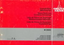 M 2680 - Ersatzteilliste / Spare parts list / Liste de pièces de rechange / Lista de piezas de recambio