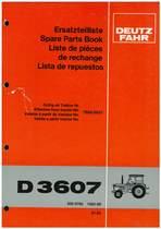 D 3607 - Ersatzteilliste / Spare Parts Book / Liste de pièces de rechange / Lista de repuestos