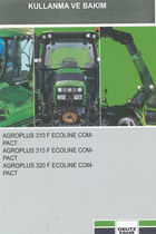 AGROPLUS 310 F ECOLINE COMPACT - AGROPLUS 315 F ECOLINE COMPACT - AGROPLUS 320 F ECOLINE COMPACT - Kullanma ve bakim