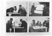 I fratelli Cassani al tavolo di progettazione