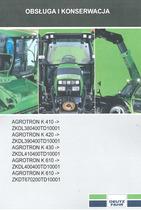 AGROTRON K 410 -> ZKDL380400TD10001 - AGROTRON K 420 -> ZKDL390400TD10001 - AGROTRON K 430 -> ZKDL410400TD10001 - AGROTRON K 610 -> ZKDL400400TD10001 - AGROTRON K 610 -> ZKDT670200TD10001 - Obsluga i konserwacja