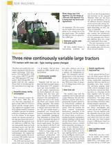 Three new continuosly variable large tractors