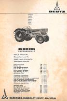 D 8006 - Teilnummernliste / Part No. List / Liste de nos de pièces / Lista de nos.de pieza