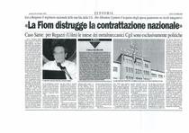 """""""La FIOM distrugge la contrattazione nazionale"""""""