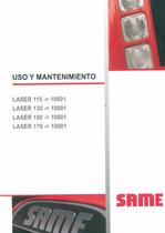 LASER 115 ->10001 - LASER 130 ->10001 - LASER 150 ->10001 - LASER 170 ->10001 - Uso y mantenimiento