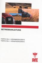 FORTIS 150.4 ->WSXAN60200LS50010 - FORTIS 160.4 ->WSXAP00200LS50010 - Betriebsanleitung