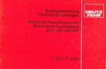 F 327 - F 390 - Betriebsanleitung / Notice de fonctionnement