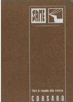 CORSARO - Catalogo ricambi originali / Catalogue pièces d'origine / Original parts catalogue / Original Ersatzteilkatalog / Catálogo repuestos originales