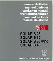 SOLARIS 25 - 35 - 35 WIND - 45 - Manual de oficina