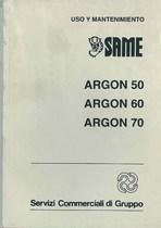 ARGON 50 - 60 - 70 - Uso y mantenimiento