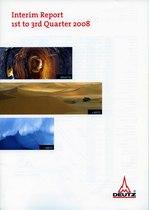 Interim Report 1st to 3rd Quarter 2008