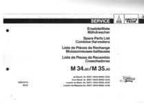 M 34.80-M 35.40 - Ersatzteilliste / Liste de Pièces de Rechange / Spare Parts List / Elenco dei Pezzi di Ricambio / Lista de Piezas de Recambio