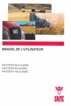 FRUTTETO³ 80.4 CLASSIC - FRUTTETO³ 90 CLASSIC - FRUTTETO³ 100 CLASSIC - Manuel de l'utilisateur