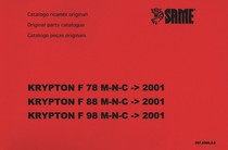 KRYPTON F 78 ->2001 - KRYPTON F 88 ->2001 - KRYPTON F 98 ->2001 - Catalogo ricambi originali / Original parts catalogue / Catalogo peças originales