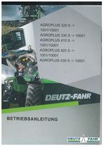 AGROPLUS 320 S ->1001/10001 - AGROPLUS 330 S ->10001 - AGROPLUS 410 S ->1001/10001 - AGROPLUS 420 S ->1001/10001 - AGROPLUS 430 S ->10001 - Betriebsanleitung