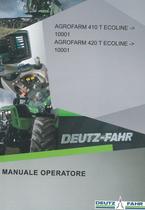 AGROFARM 410 T ECOLINE ->10001 - AGROFARM 420 T ECOLINE ->10001 - Manuale operatore
