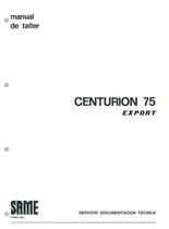 CENTURION 75 EXPORT - Manual de Taller