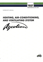 HEATING, AIR-CONDITIONING AND VENTILATING SYSTEM FOR AGROTRON - Workshop manual