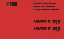 ANTARES II 110 ->4001 - ANTARES II 130 ->4001 - Catalogo ricambi originali / Original parts catalogue / Catalogo repuestos originales