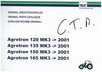 AGROTRON MK3 120-135-150-165 - Original Ersatzteilkatalog / Original parts catalogue / Catalogo ricambi originali