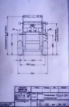 [Fahr] Mähdrescher M 1102 / M1202 vorderansicht - Disegno tecnico