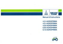 AGROPRIMA 4.31-4.51-4.56-6.06-6.16 - Utilisation et Entretien