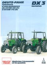 DX 3 VARIOCAB Tracteurs d'une puissance de 35 KW (46ch) a 55 KW (75ch)