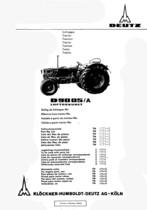 D 9005 A - Ersatzteilliste / Spare parts catalogue / Catalogue de pièces de rechange / Lista de repuestos