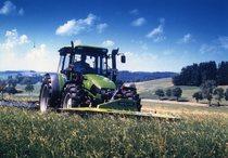[Deutz-Fahr] trattore Agroplus 100 con falciatrice KM 3.27 FS