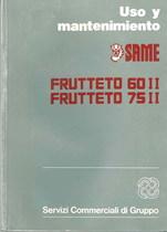 FRUTTETO 60 II- 75 II - Uso y manutencion