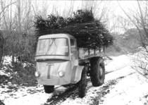 Samecar Industriale durante il trasporto di legname