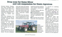 Drop nose SAME Silver and cab suspension fir Deutz Agrotron