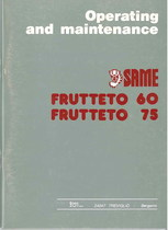 FRUTTETO 60 - 75 - Operating and maintenance